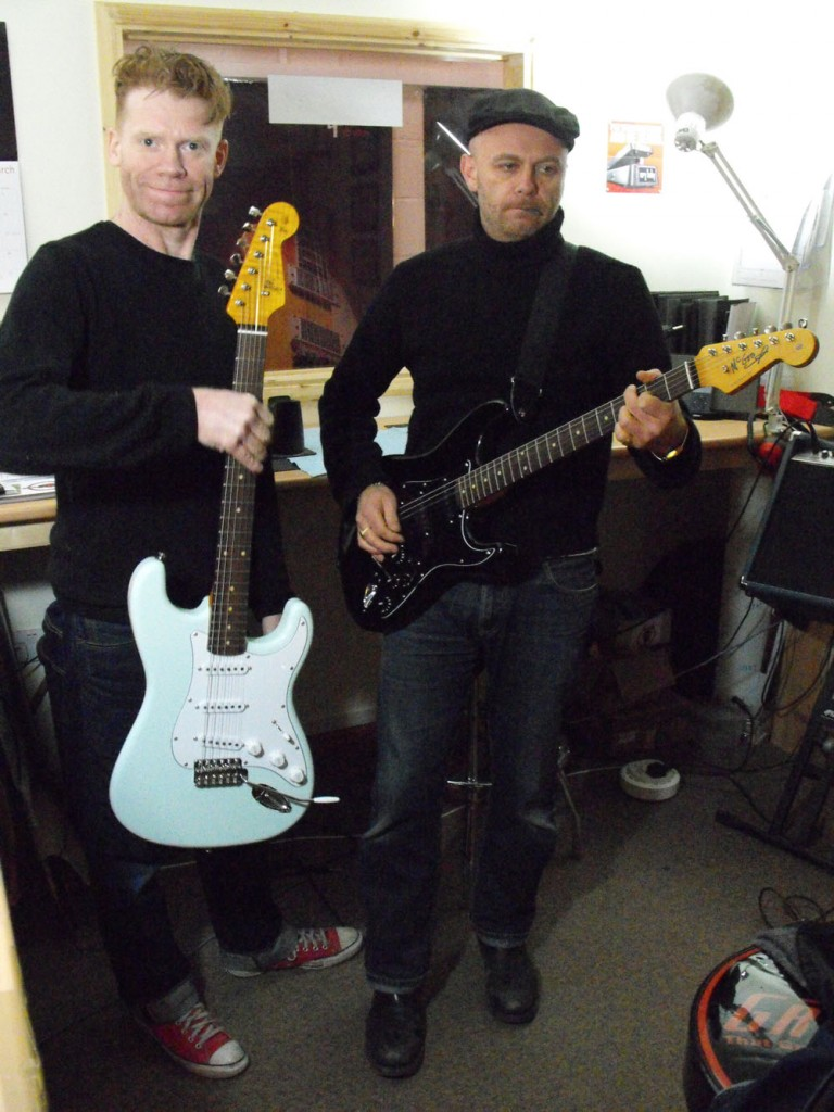 Coldplay Guitar Techs attend the Guitar Tech Courses, Build your own electric guitar course.