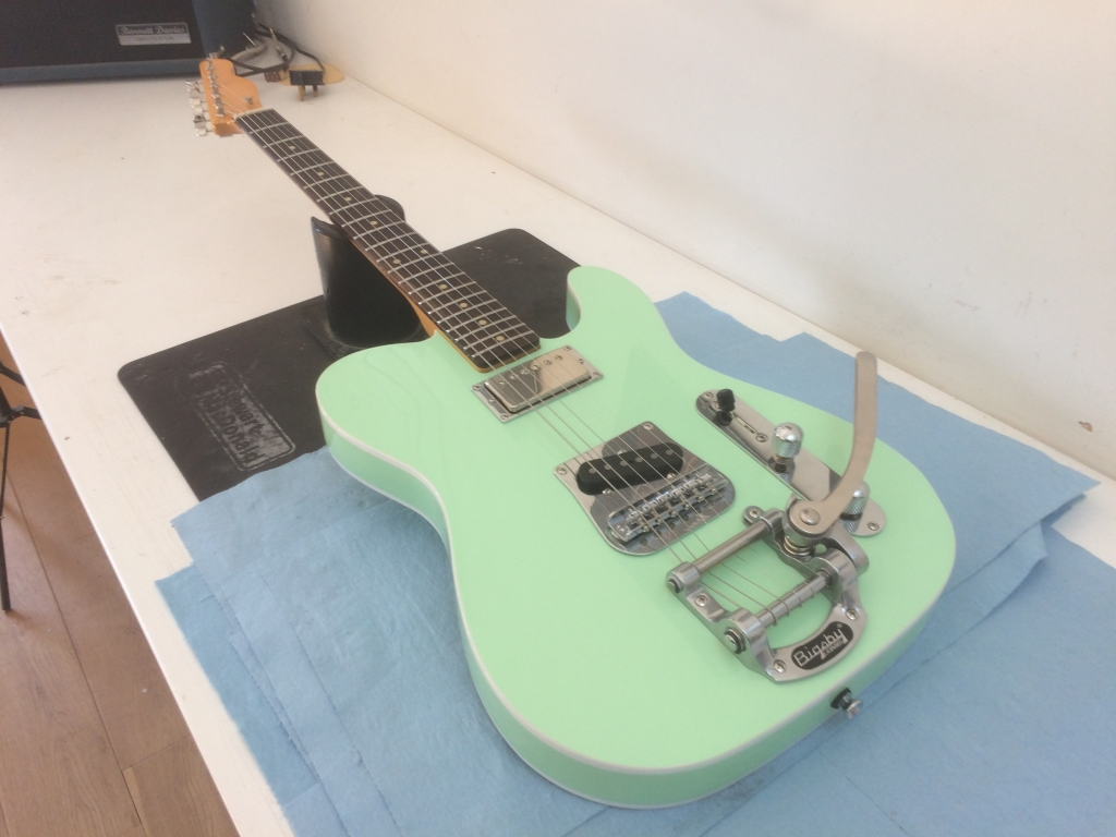 Surf Green. Maple Rosewood V Gloss. Bigsby B5. H/S Tele