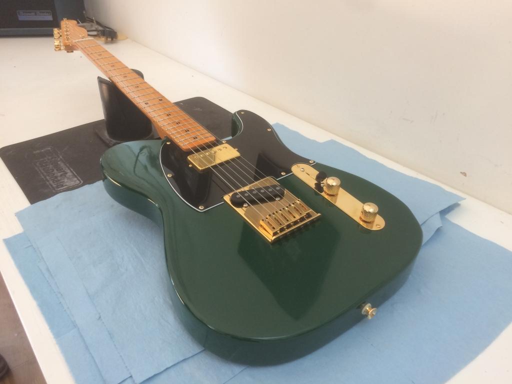 British Racing Green, Maple V Gloss. H/S Tele