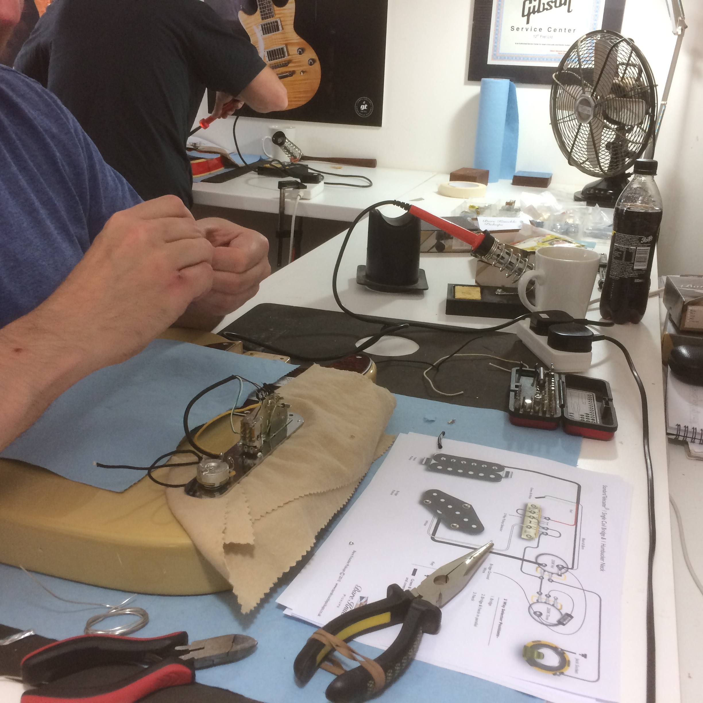 Guitar Building Course And Setup Tech Courses Electrical Wiring Classes Build