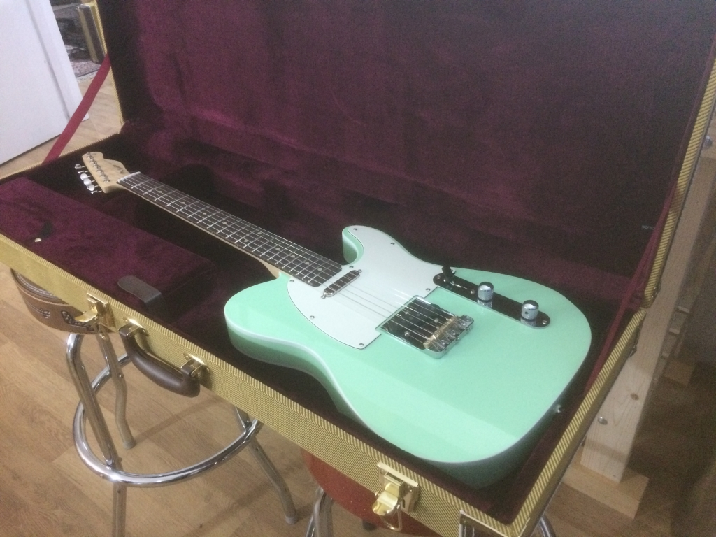 Surf Green. Maple Rosewood Satin.